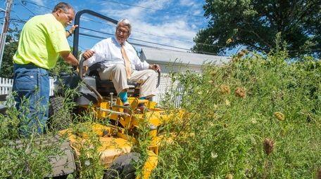 Town of Hempstead Supervisor Anthony J. Santino sits