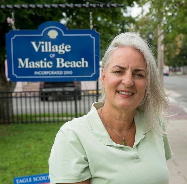 Mastic Beach Mayor Maura Spery outside her office