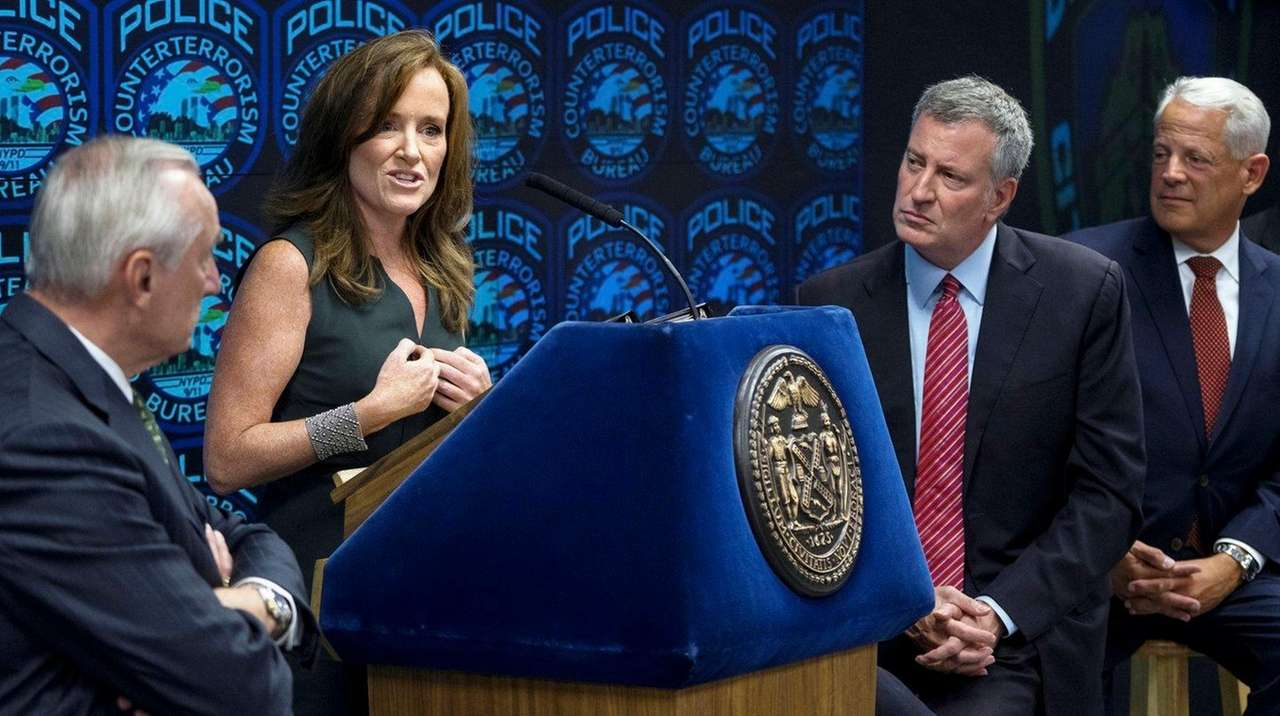 Rep. Kathleen Rice (D-Garden City) with NYPD Commissioner