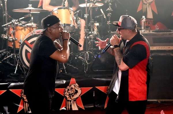 Recording artist Chuck D and B-Real of Prophets