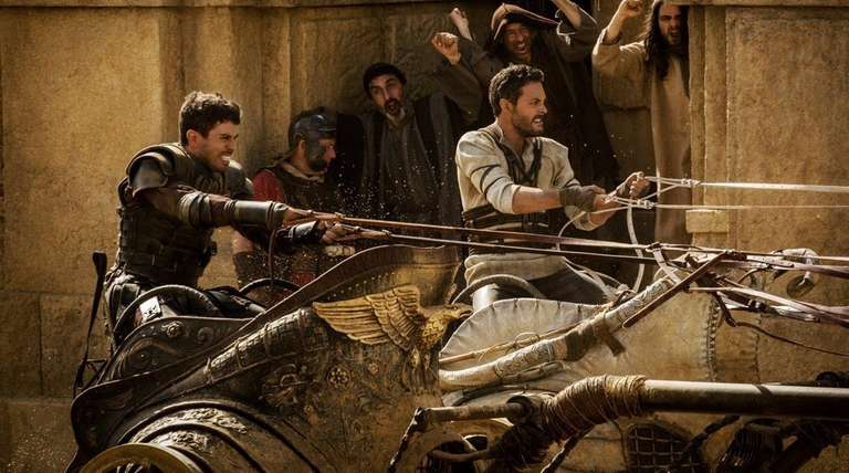 Toby Kebbell, left, and Jack Huston compete in