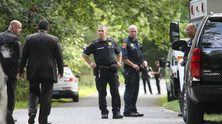 Suffolk police investigate a possible homicide on White