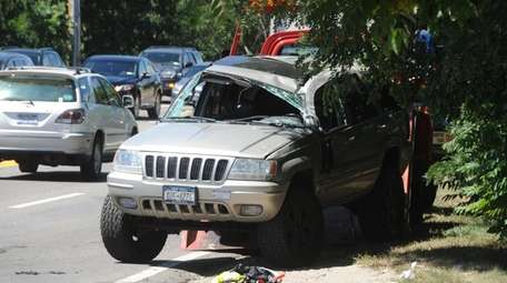 A woman was injured during a crash on