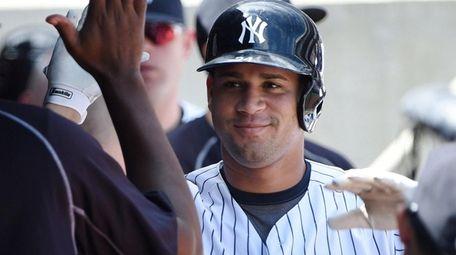 New York Yankees designated hitter Gary Sanchez is