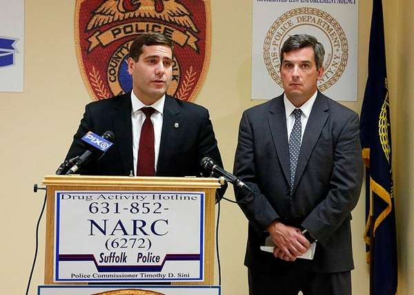 Suffolk County Police Commissioner Timothy Sini and Det.