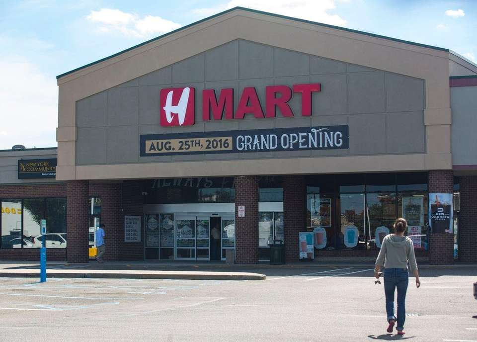 Hmart, an Asian-American supermarket chain, opened a location