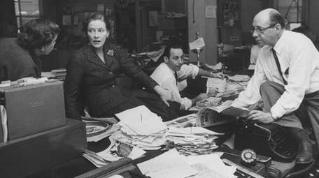 Newsday publisher Alicia Patterson, circa 1958, holds an