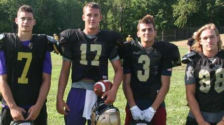 From left: Sayville's Mike Dionisio, Jack Coan, Jason