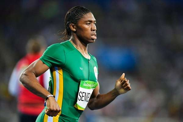 Caster Semenya of South Africa competes during the