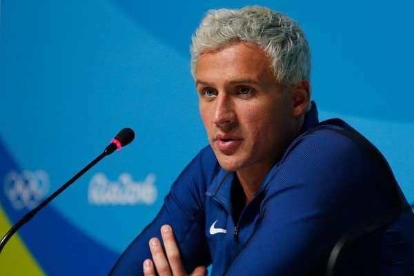Ryan Lochte of the United States attends a