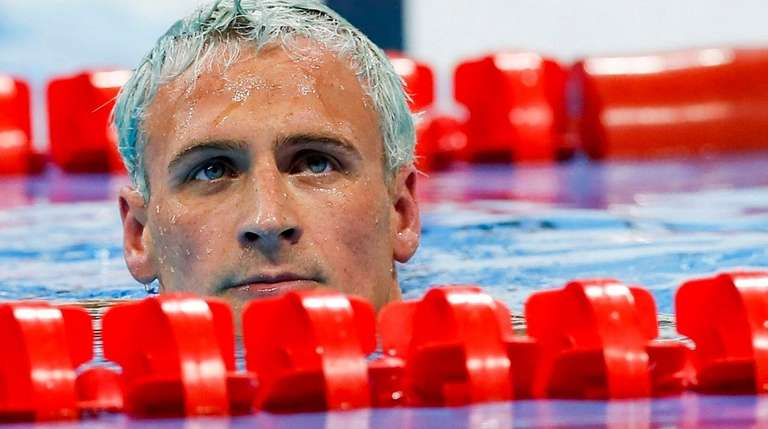 Ryan Lochte after competing in the men's 200m