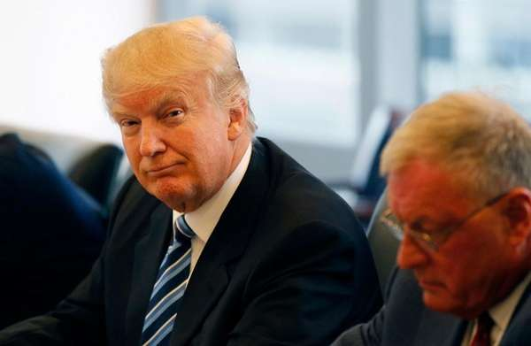 Republican presidential candidate Donald Trump participates in a
