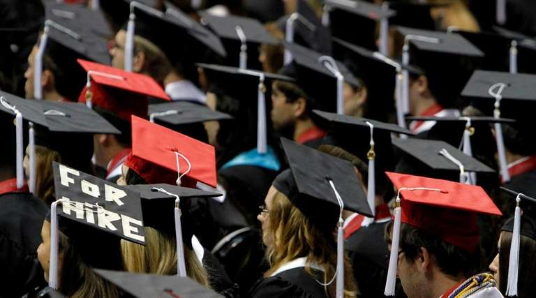 Students attend graduation ceremonies at the University of
