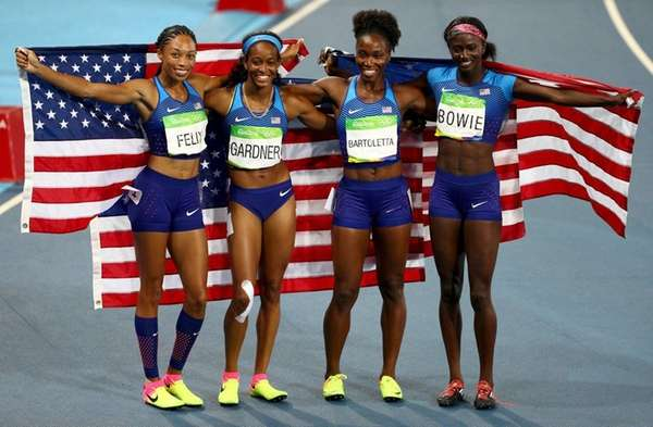 Image result for allyson felix gold medal rio