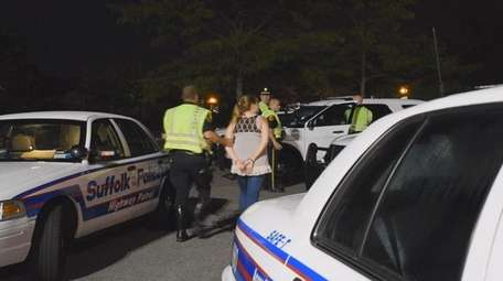 Suffolk County police arrested nine motorists between late