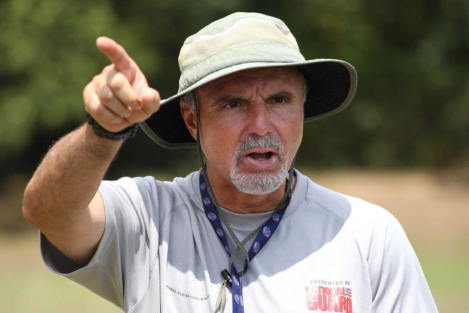 Head coach Joe Vito looks on during practice