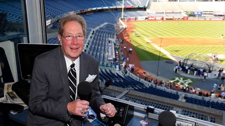 New York Yankees radio broadcaster John Sterling poses