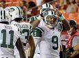 New York Jets quarterback Bryce Petty (9) celebrates