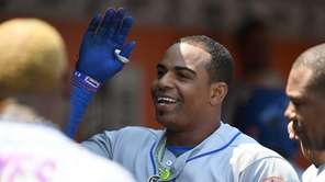 Yoenis Cespedes of the New York Mets is