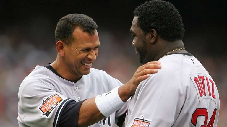 American League All-Star Alex Rodriguez #13 of the