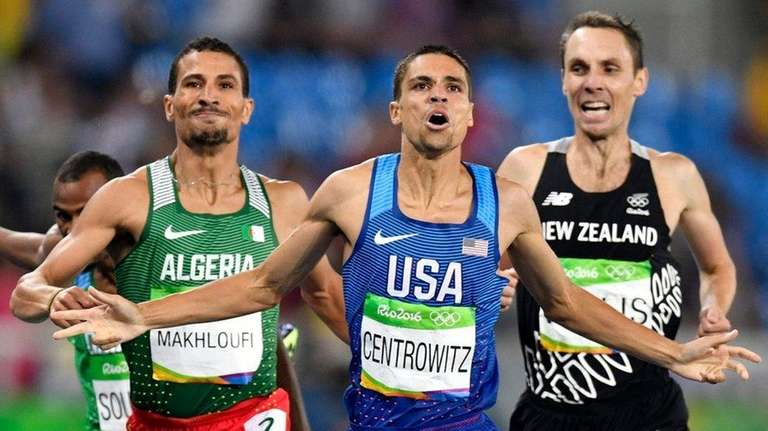 Matthew Centrowitz of USA (C) wins ahead of