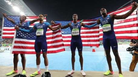 The United States men's 4x400 meter relay team