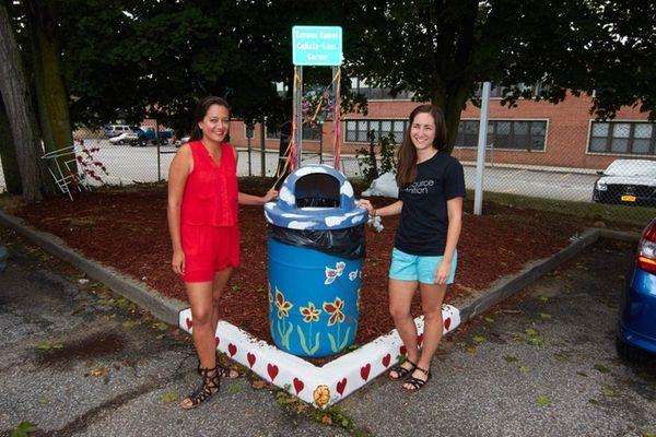 Andrea Bonilla, left, and Elisabeth Muehlemann, community liaisons