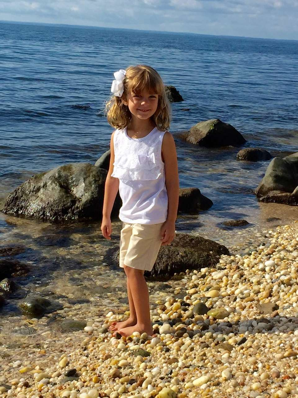 Portia Cangiano, 4 yrs old Exploring Greenport beaches