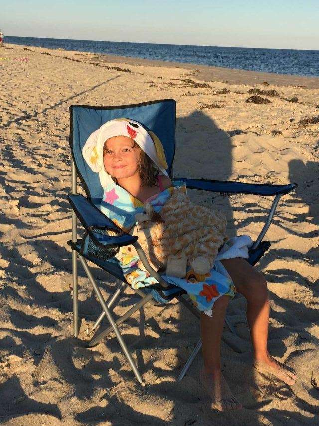 Portia Cangiano, 4 yrs old Waiting for sunset