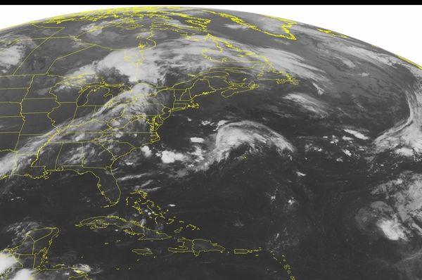 This NOAA satellite image taken Sunday, Aug.21, 2016,
