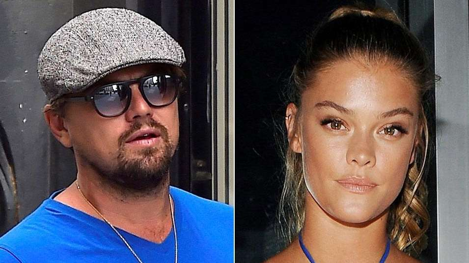 Leonardo DiCaprio and Nina Agdal are shown in