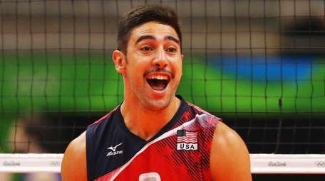 Taylor Sander of the United States reacts during