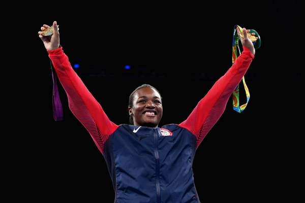 Gold medalist Claressa Maria Shields of the United