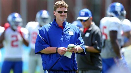 New York Giants head coach Ben McAdoo during