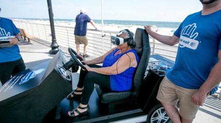 Cindy Siegel, 62, of Long Beach experiences a