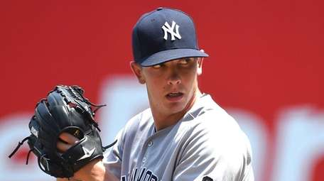 Chad Green of the New York Yankees pitches