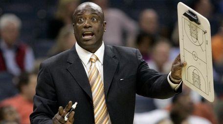 Charlotte Bobcats head coach Sam Vincent directs his