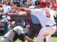 Albert Pujols #5 of the Los Angeles Angels