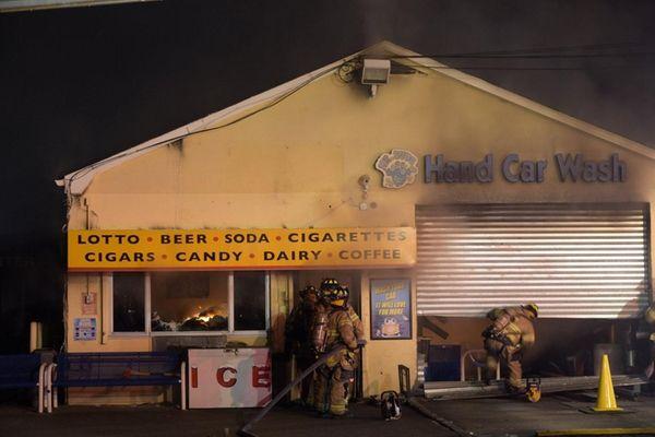 Arson Squad investigators are trying to determine the