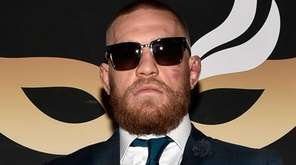 Conor McGregor arrives at the official after-fight party