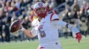 Rutgers quarterback Chris Laviano looks to pass against