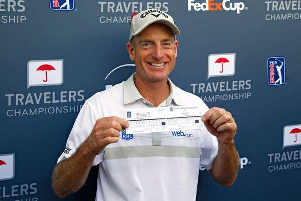 Jim Furyk of the United States poses with