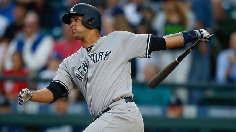 Gary Sanchez of the New York Yankees hits