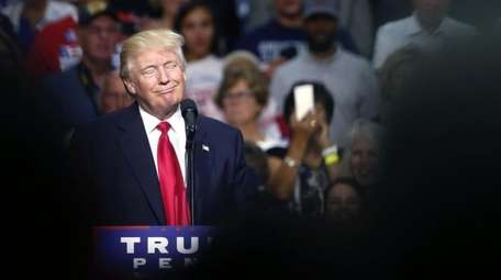 Republican presidential candidate Donald Trump at a campaign