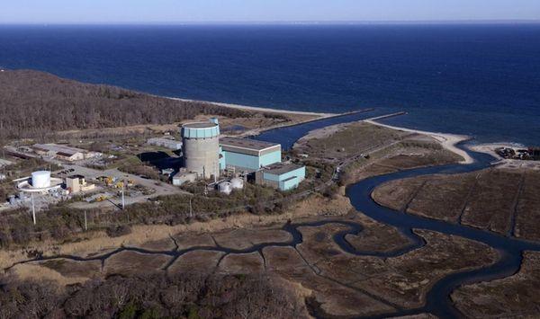 The decommissioned Shoreham Nuclear Power Plant in Shoreham,