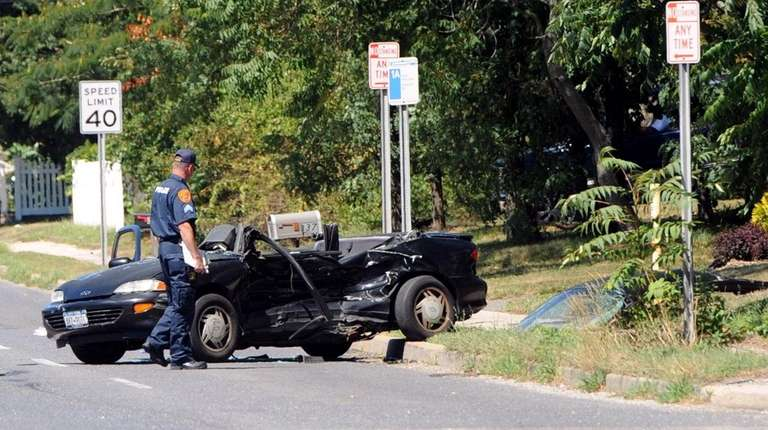 Suffolk police investigate the scene of an accident
