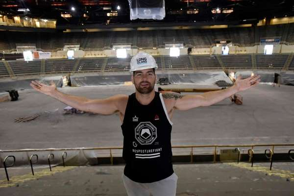 The Nassau Veterans Memorial Coliseum is undergoing renovations to modernize the facility. UFC middleweight champion Chris Weidman of Long Island visited the Coliseum on Aug. 23, 2016 to check out the reconstruction and hopes to fight in the building one day.