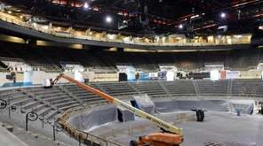 The Nassau Veterans Memorial Coliseum is undergoing renovations