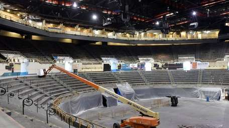 The Nassau Veterans Memorial Coliseum is undergoing renovations