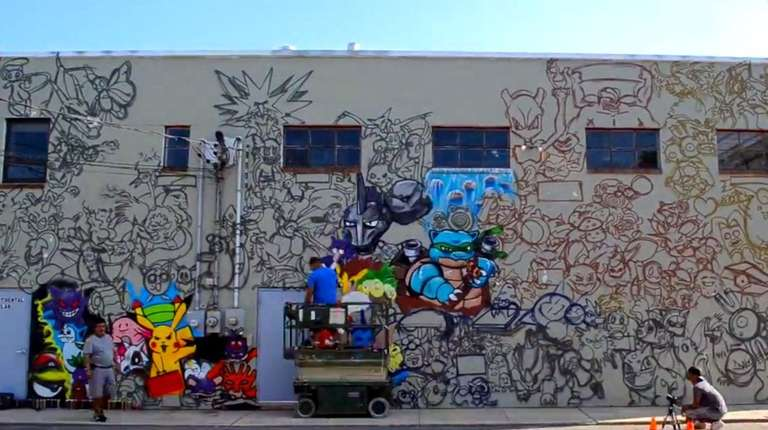 A 25-foot mural painted by artist Efren Andaluz
